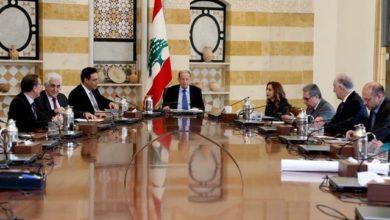 صورة عون ترأس اجتماع المجلس الاعلى للدفاع في القصر الجمهوري