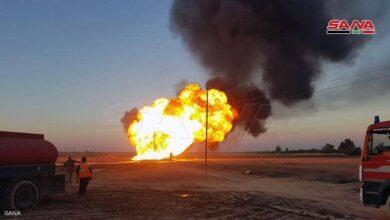 صورة إعتداء إرهابي يقطع الكهرباء عن المحافظات السورية