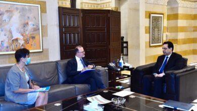 صورة دياب التقى المدير الإقليمي لليونيسف ووفدا من المجلس الأميركي للمنظمات الإسلامية