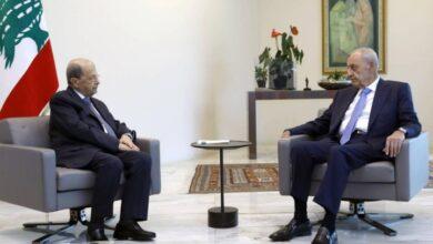 """صورة """"حكومة أقطاب"""" طبق رئيسي في لقاء عون ـ بري"""