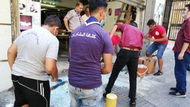 صورة حملة لكشافة المشاريع لرفع مخلفات انفجار مرفأ بيروت