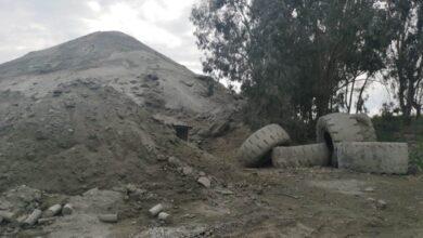 صورة لجنة كفرحزير البيئية:لنبش النفايات الصناعية السامة وترحيلها