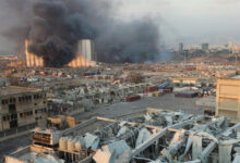 صورة الصوديوم بعد الأمونيوم في مرفأ بيروت