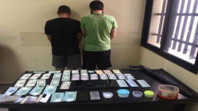 صورة توقيف مروّج للمخدرات وضبط كميّة منها بحوزته