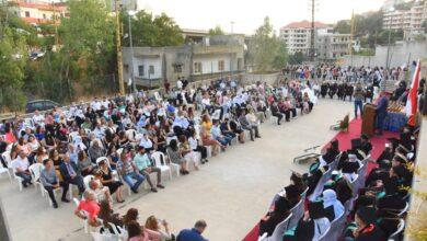 صورة ثانوية صوفر الرسمية تكرّم طلابها المتفوقين بحضور رئيس بلدية شارون