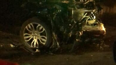 صورة قتيل وجريح بحادث سير مروع على اوتوستراد كفرحزير