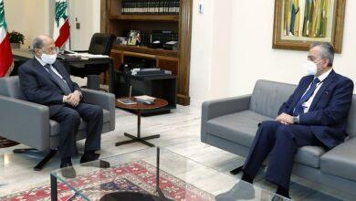 صورة السفير علي بحث مع عون للأوضاع العامة والعلاقات بين البلدين