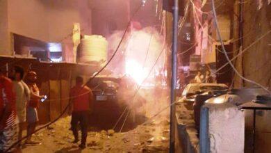 صورة انفجار الطريق الجديدة… خزّان بنزين وليس مازوت!