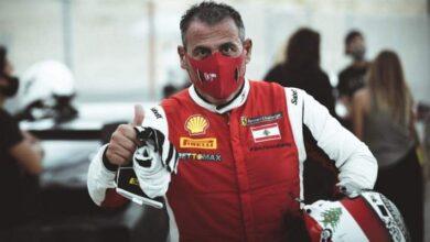 """صورة اللبناني تاني حنا وصيفا في سباقي الجولة الأولى من بطولة """"بروكار"""""""