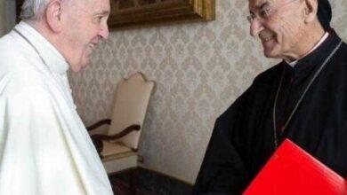صورة الراعي عرض مع البابا فرنسيس لهواجس اللبنانيين