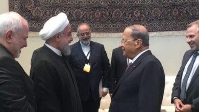 صورة روحاني هنأ عون: إيران ستقف إلى جانب لبنان