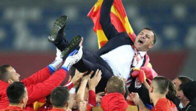 صورة للمرة الأولى بتاريخها.. مقدونيا الى نهائيات كأس أوروبا 2020