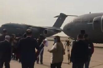 صورة وصول طائرتين قطريتين تحملان مستشفيين ميدانيين الى مطار بيروت