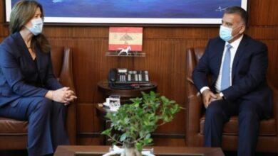 صورة اللواء  إبراهيم يبحث مع السفيرة الأميركية قضايا مشتركة