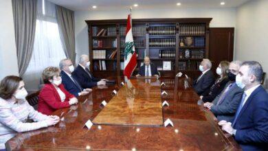 صورة عون شدد على دور مجلس القضاء الاساسي في عملية مكافحة الفساد