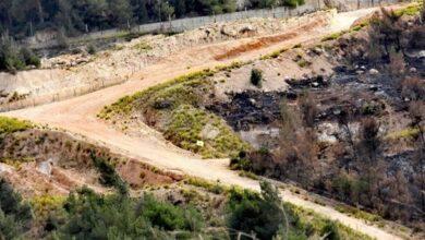 صورة إنفجار عبوة ناسفة بدورية للعدو قبالة بلدة العديسة