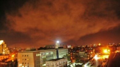 صورة الدفاعات الجوية السورية تتصدى لعدوان إسرائيلي فوق مصياف