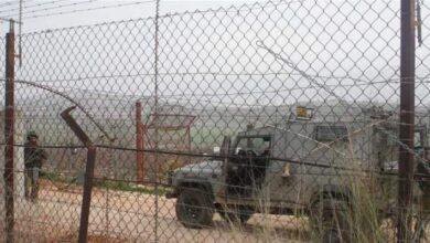 صورة قوة معادية مشطت المنطقة العازلة بين السياج الحدودي ومجرى الوزاني