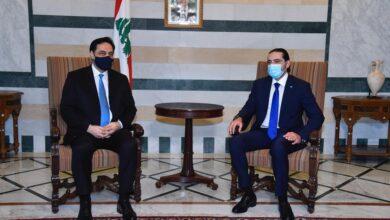 صورة الحريري من السراي: جئت للوقوف مع رئيس الحكومة والتضامن معه