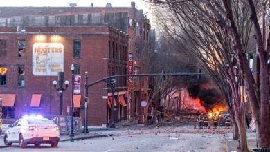 صورة بعد انفجار ناشفيل..  إعلان حالة الطوارئ وحظر التجوال