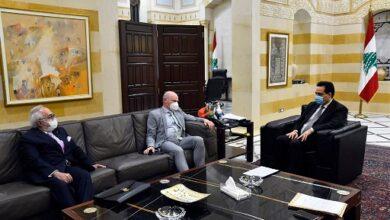 صورة دياب تمنى على سفير ألمانيا توفير مليوني لقاح ضد كورونا
