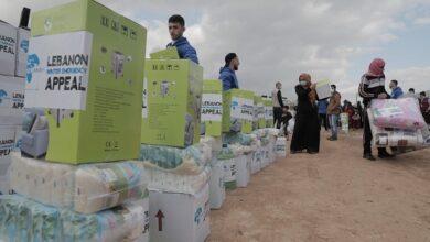 صورة جمعية التكافل لرعاية الطفولة وزعت حزمة مساعدات على النازحين السوريين واللاجئين الفلسطينين