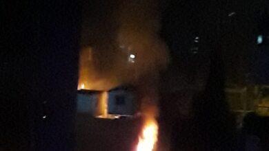 صورة في رابع ايام الاحتجاج..حريق في المحكمة السنية الشرعية بطرابلس