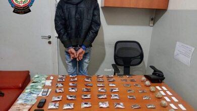 صورة توقيف سوري في الحدت أثناء ترويجه المخدرات