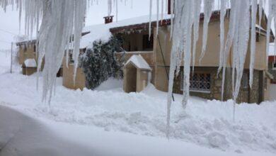 """صورة بعد العاصفة.. """"برودة قطبية""""وجليد"""