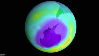 صورة ثقب الأوزون فوق القطب الجنوبي اختفى بشكل كامل
