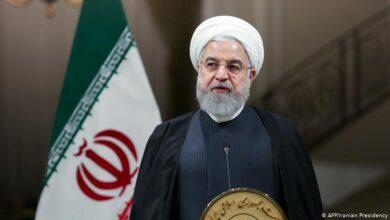 صورة روحاني: اليوم تنتهي حقبة طاغية آخر