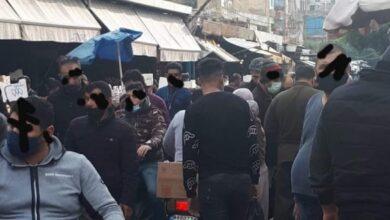 صورة خرق لقرار الإقفال العام في سوق صبرا