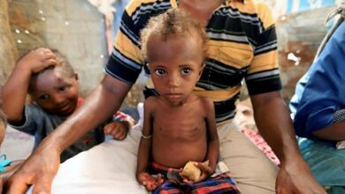 صورة محمد الحوثي: نحمل مجلس الامن مسؤولية حدوث مجاعة في اليمن