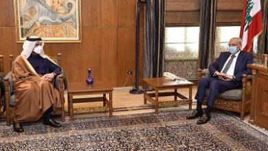 صورة بري بحث الوضع الحكومي وآخر المستجدات السياسية مع وزير الخارجية القطري