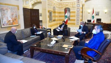 صورة دياب بحث مع كومار جاه في مساعدات البنك الدولي للبنان