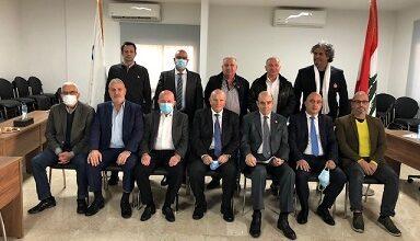 صورة بطرس جلخ الرئيس الثامن للجنة الاولمبية اللبنانية
