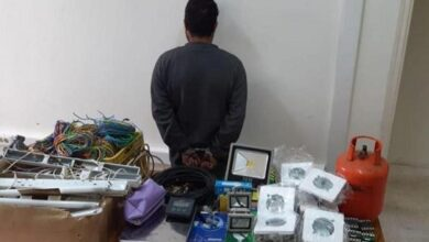 صورة توقيف فلسطيني نفذ عمليات سرقةفي بقعاتا – الشوف