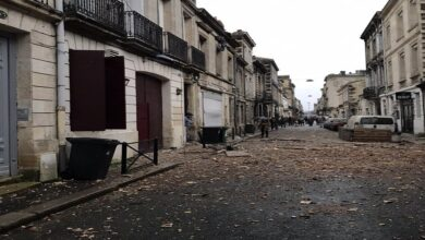 صورة سقوط ثلاثة جرحى ومفقودان في انفجار بمبنى في بوردو الفرنسية