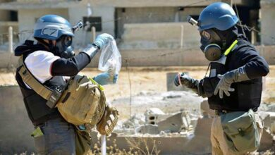 صورة تحذير روسي من هجوم كميائي جديد في إدلب