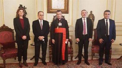 """صورة وفد """"التيار"""" من بكركي: عون حريص على تشكيل الحكومة"""