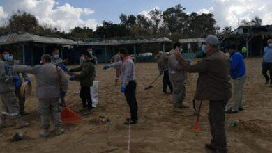صورة اتحاد بلديات الزهراني اطلق حملة تنظيف الشاطئ اللبناني جراء التسرب النفطي