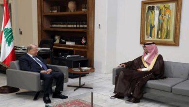 صورة مصادر بعبدا: التواصل مع السفير السعودي تم برغبة مشتركة