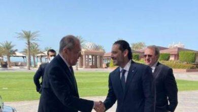 صورة الحريري يلتقي لافروف في أبو ظبي بحضور بوغدانوف