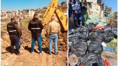 صورة بالصور- مكتب أمن الدولة أتلف لحوما فاسدة في عاليه