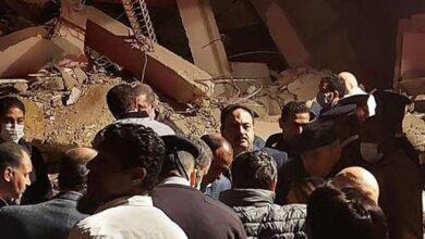 صورة قتلى وجرحى في انهيار مبنى بالقاهرة