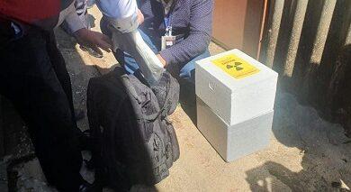 صورة تسليم المواد المشعة في منشآت الزهراني الى الهيئة اللبنانية للطاقة الذرية