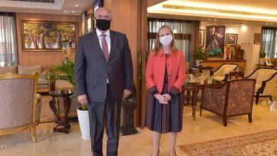 صورة مخزومي التقى سفيرة كندا وأكد العلاقة المميزة بين البلدين