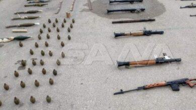 صورة ضبط أسلحة وذخائر متنوعة في ريف درعا الغربي