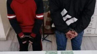 صورة توقيف مروجَي عملة مزيفة في راشيا وضبط كمية منها