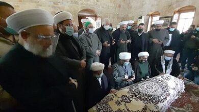 صورة صيدا ودعت والجنوب القاضي احمد الزين في مأتم مهيب